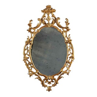 A Chippendale Oval Mirror For Sale