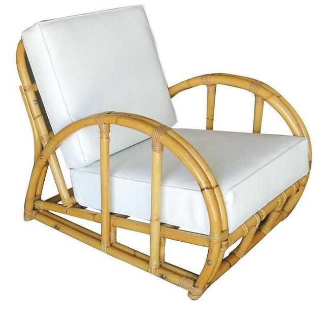 Half Moon Rattan Two Strand Lounge Chair - Image 4 of 6