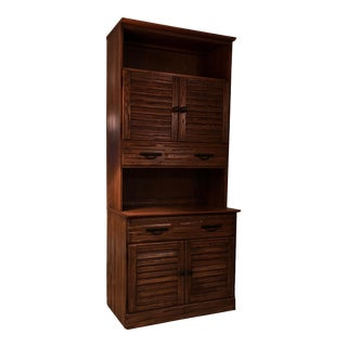 A. Brandt Co. Ranch Oak Hutch Cabinet For Sale