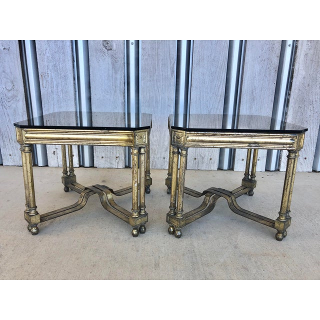 Midcentury French Silver Leaf Side Tables For Sale - Image 6 of 6