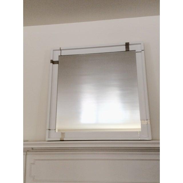 Laura Kirar White Lacquer Mirror - Image 2 of 7