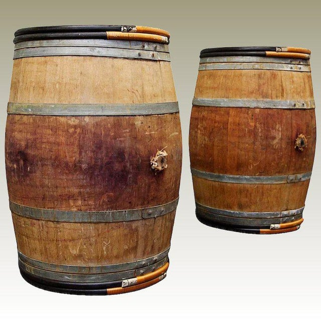 Vintage Oak Wine Barrels Bordeaux France Chairish