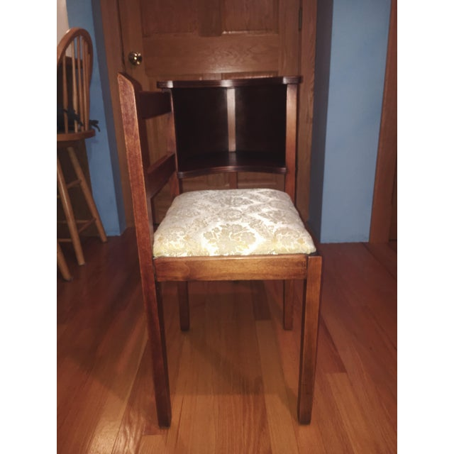 Traditional 1930s Vintage Chair & Attached Desk For Sale - Image 3 of 6