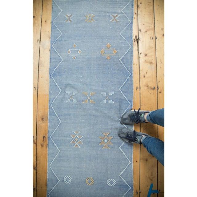 "Denim Blue Kilim Rug Runner - 2'6"" X 8'10"" - Image 5 of 9"