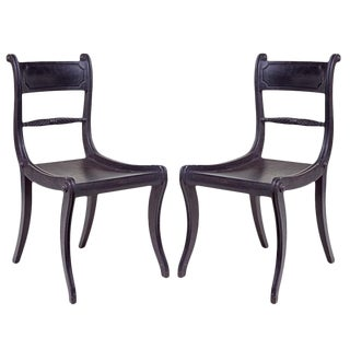 20th Century English Regency Style Side Chairs - a Pair For Sale