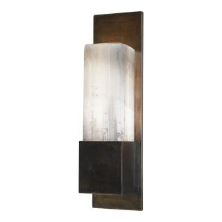 Pierre De Lune II Aged Brass Wall Lamp by Christine Rouviere For Sale
