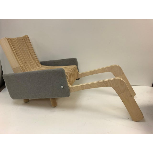 Custom Plywood Lounge Chair For Sale - Image 4 of 9