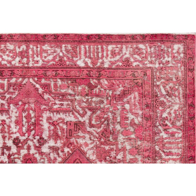 Vintage hand-knotted Overdyed rug with a medallion motif. This piece has great detailing and a beautiful design. It would...