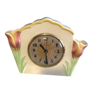 Early Mid-Century Porcelain Tulip Clock