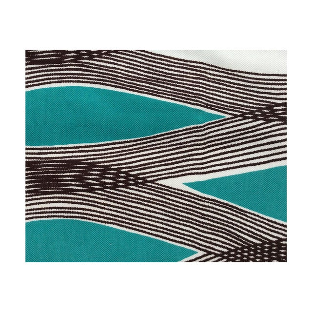 Mid-Century Modern Waves Lumbar Throw Pillow - Image 4 of 7