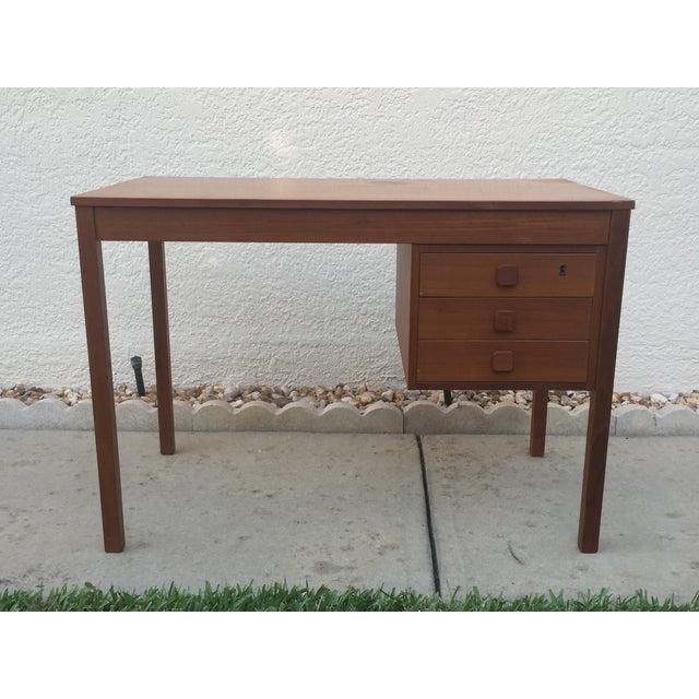Mid-Century Danish Modern Teak Desk - Image 2 of 11