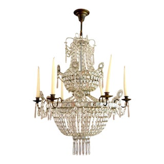 19th Century Swedish Neoclassical Chandelier For Sale