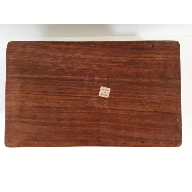 1960s Vintage Hand Carved Wooden Box For Sale - Image 9 of 12
