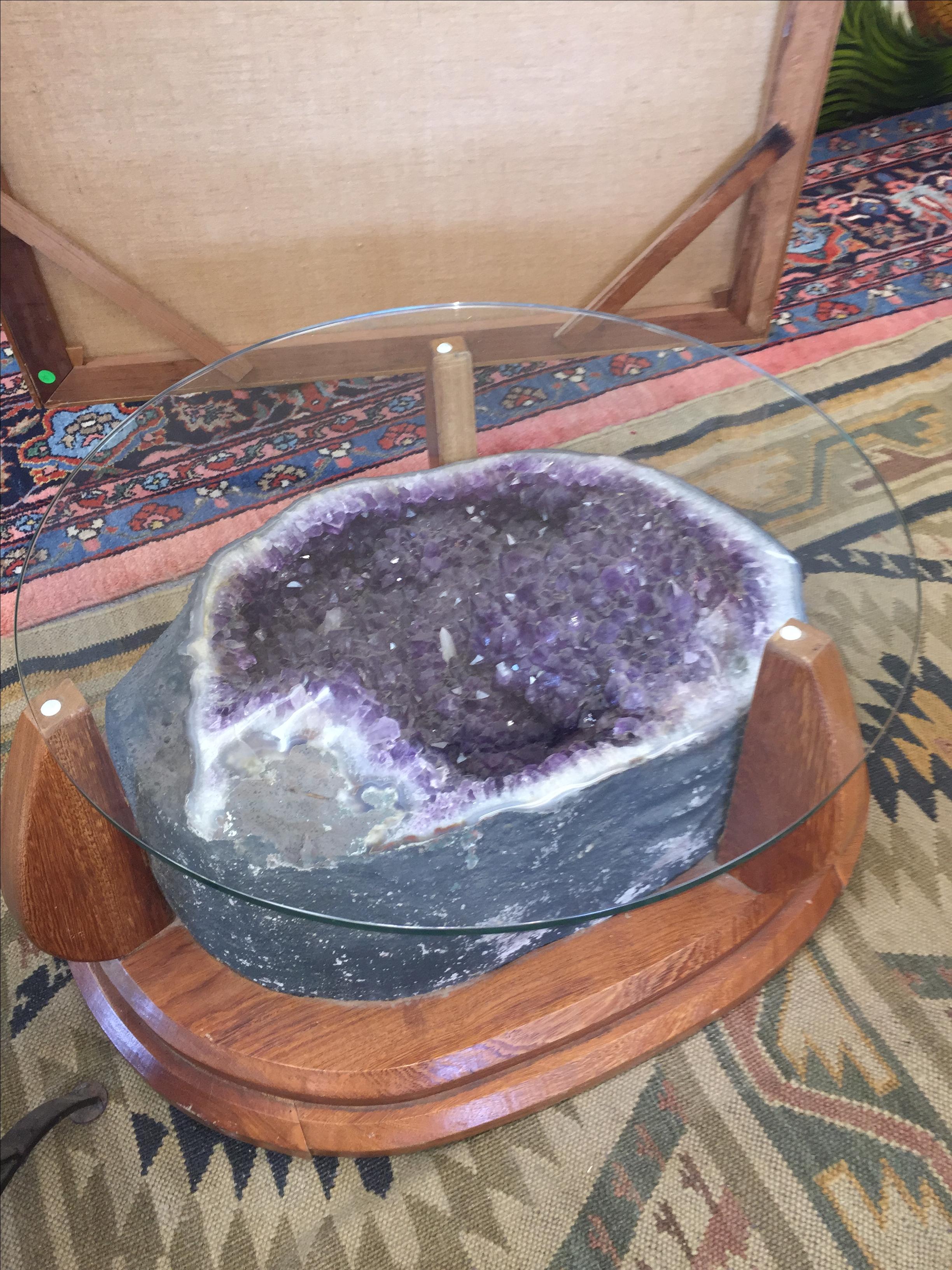 Amethyst Crystal Geode Coffee Table Chairish
