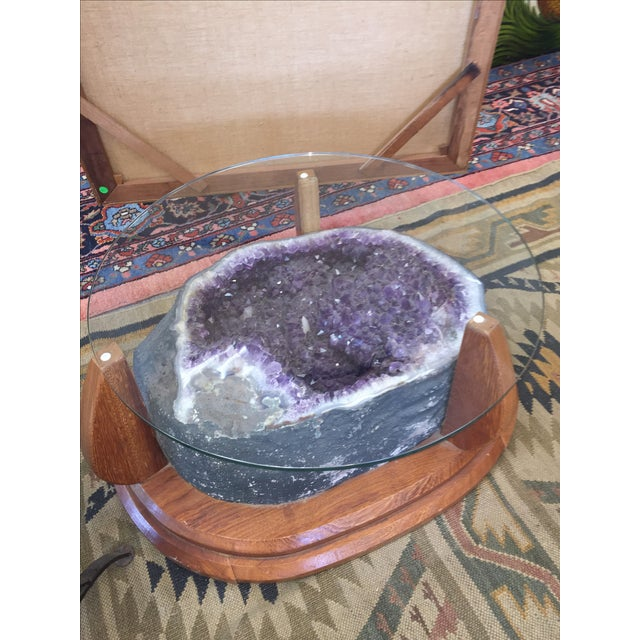 Amethyst Crystal Geode Coffee Table For Sale - Image 9 of 9