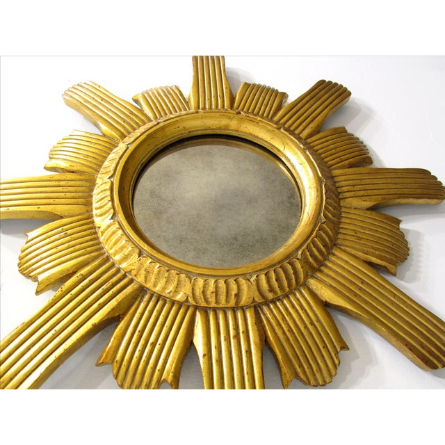Round Gilded Sunburst Mirror - Image 4 of 6
