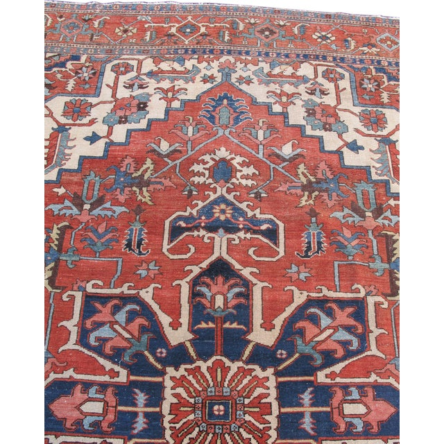 Late 19th Century Serapi Carpet For Sale - Image 5 of 6