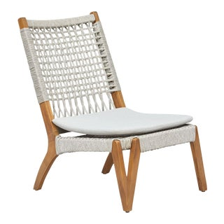 Bermuda Lounge Chair, Taupe, Rattan For Sale