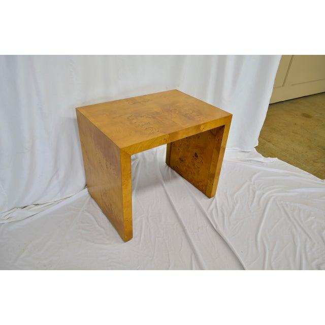 Brown 1960s Mid Century Modern Olive Burlwood Side Table For Sale - Image 8 of 8