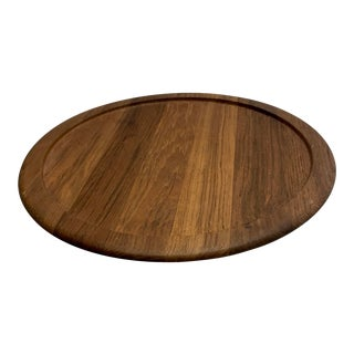 1964 Danish Modern Digsmed of Denmark Teak Lazy Susan For Sale