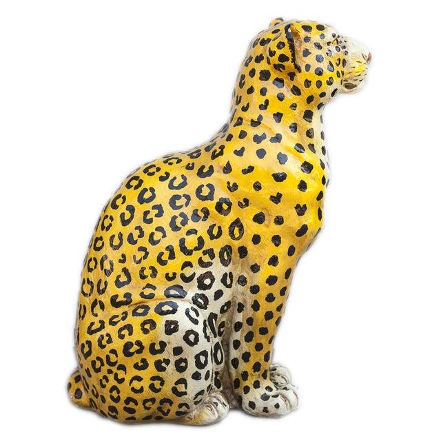 Mid-Century Ceramic Leopard - Image 5 of 10