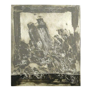 Kjeld Ulrich Untitled Engraving Signed Numbered 8/50 C.1980s For Sale