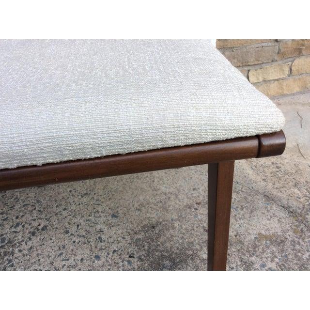 Mid-Century Walnut & Rattan Dining Chairs - Set of 4 - Image 8 of 10