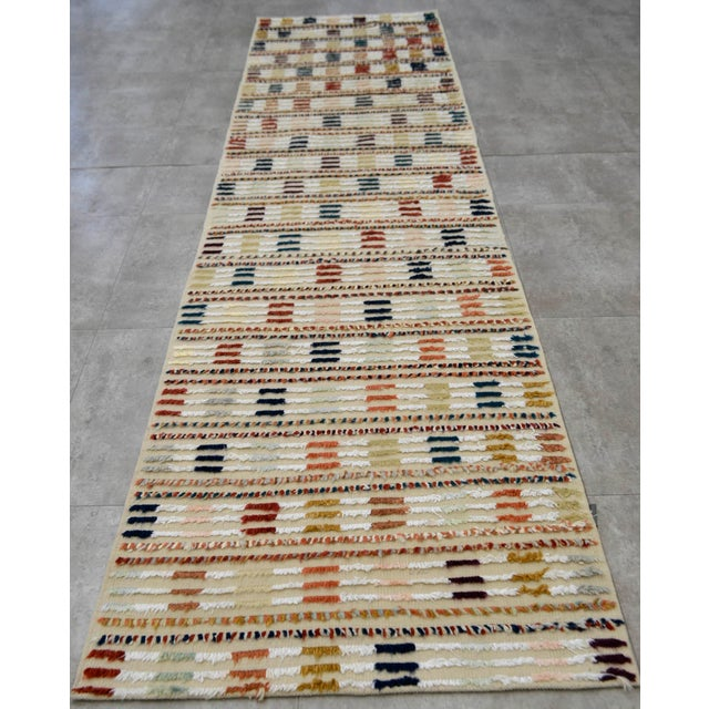 Hand Knotted Oushak Runner Rug - 2′8″ X 9′10″ - Image 3 of 10