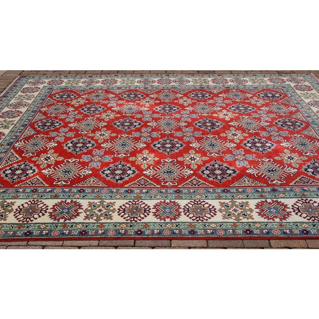 Islamic Turkish Hand Knotted Kazak Rug - 9′ × 11′10″ For Sale - Image 3 of 6