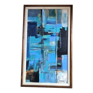 Original Contemporary Stephen Heigh Abstract Painting Vintage Frame For Sale