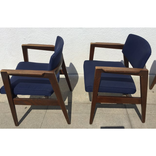 Vintage Navy Modern Chairs - Set of 4 - Image 5 of 11