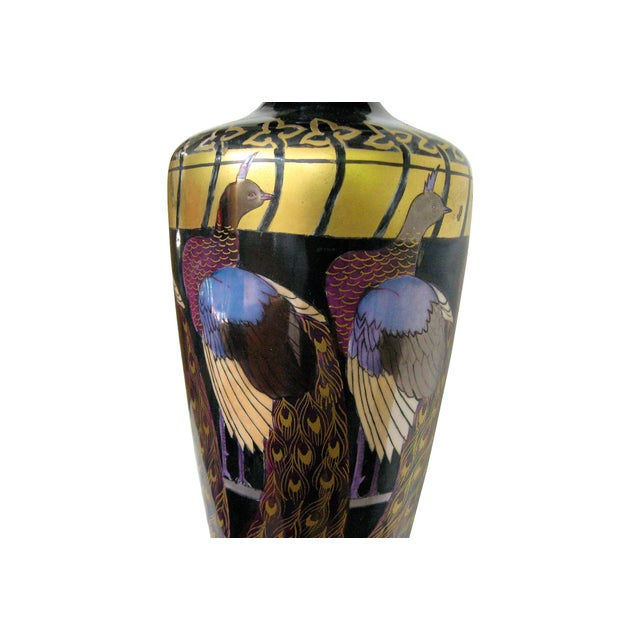 Asian Peacock Vase Table Lamp - Image 3 of 4