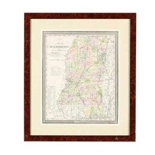 Antebellum Map of Mississippi For Sale