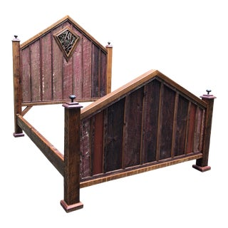 American Country Farmhouse Queen Bedframe For Sale