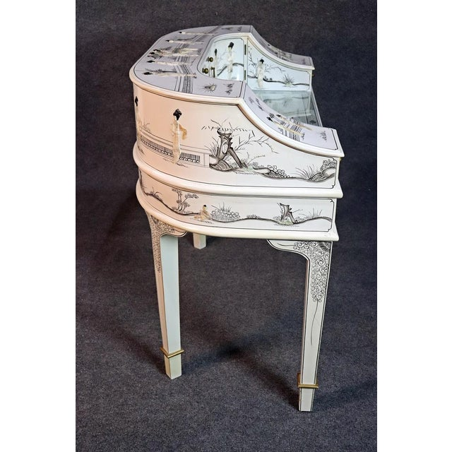 White Chinoiserie Carlton House Desk For Sale - Image 9 of 13