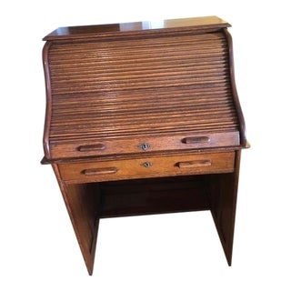 Antique Small Roll-Top Desk For Sale