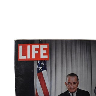 1960s Vintage Life Magazine President Johnson December 1964 Preview