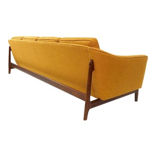 Mid Century Modern 4 Seater Sofa With New Upholstery Attributed to Folke Ohlsson for Dux For Sale