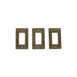 Vintage Brass Light Switch Plates