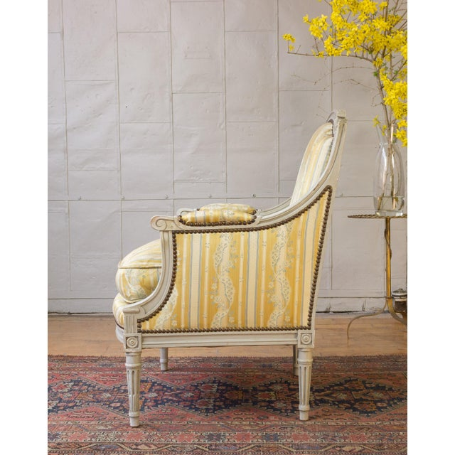 Pair of French Louis XVI Style Armchairs For Sale In New York - Image 6 of 12