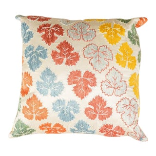 Vintage Luxury Embroidered Multicolor Sofa Pillow For Sale