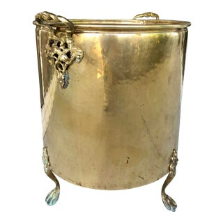 Solid Brass English Planter For Sale