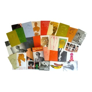 """""""Andy Warhol Men"""" Aw Foundation Vintage Collector's Pop Art Postcard Prints - Boxed Set of 30"""