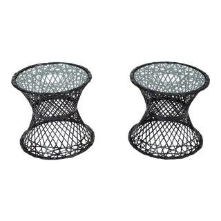 Single Spun Fiberglass Patio Side Table by Woodard Furniture