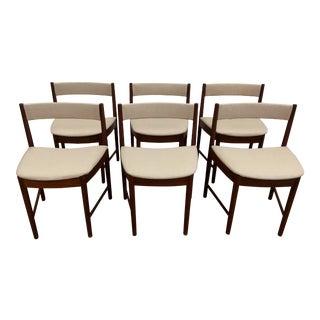 Danish Modern Teak Dining Chairs - Set of 6