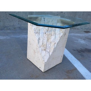 Art Deco Maitland-Smith Style Tessellated Stone Side / End Table Preview