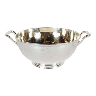 Gorgeous Art Deco Silver Plate and Gilt Bowl by Maison Christofle For Sale
