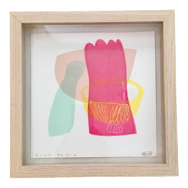 Sutton Maxine Framed Abstract Miniature Print For Sale