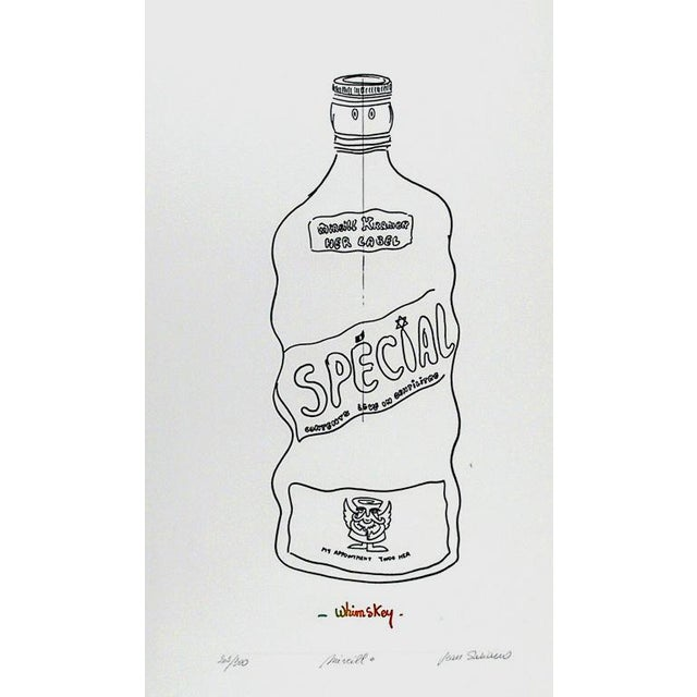 Artist: Jean Sariano Title: Mireill - Whimskey Year: circa 1978 Medium: Etching, signed and numbered in pencil Edition:...