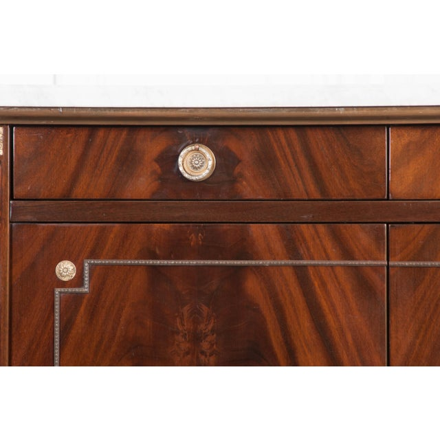 Metal Vintage French Louis XVI Style Mahogany Enfilade For Sale - Image 7 of 12